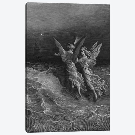 But Why Drive On That Ship So Fast, Without A Wave Or Wind? (Illustration From Coleridge's The Rime Of The Ancient Mariner) Canvas Print #BMN6794} by Gustave Dore Canvas Wall Art