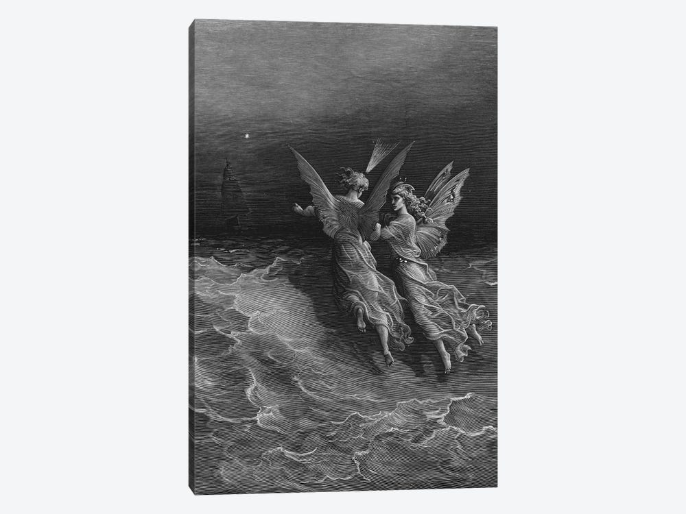 But Why Drive On That Ship So Fast, Without A Wave Or Wind? (Illustration From Coleridge's The Rime Of The Ancient Mariner) by Gustave Dore 1-piece Canvas Art Print