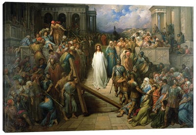Christ Leaves His Trial, 1874-80 Canvas Art Print