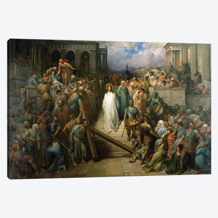 Christ Leaves His Trial, 1874-80 Canvas Print #BMN6795} by Gustave Dore Canvas Artwork