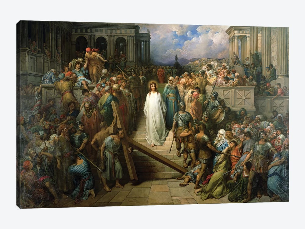 Christ Leaves His Trial, 1874-80 by Gustave Dore 1-piece Canvas Artwork