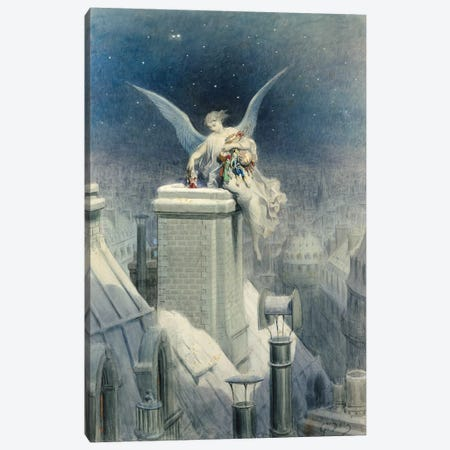 Christmas Eve Canvas Print #BMN6796} by Gustave Dore Canvas Wall Art
