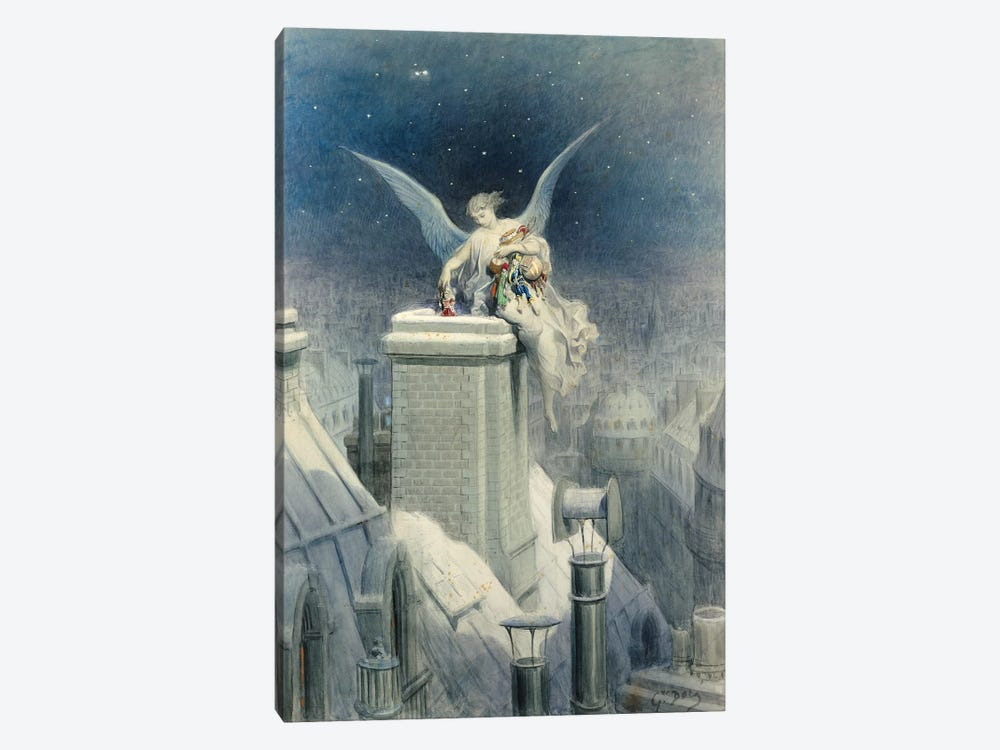 Christmas Eve by Gustave Dore 1-piece Canvas Art Print