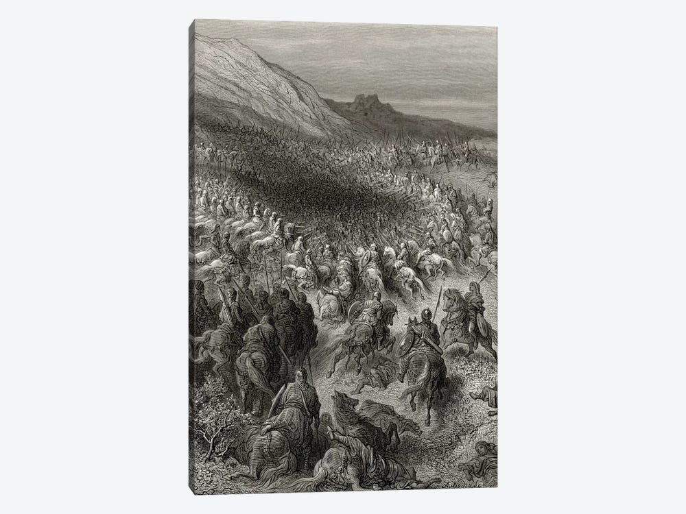 Crusaders Surrounded By Saladin's Army (Illustration From Michaud's Bibliotheque des Croisades), 1877 by Gustave Dore 1-piece Canvas Artwork