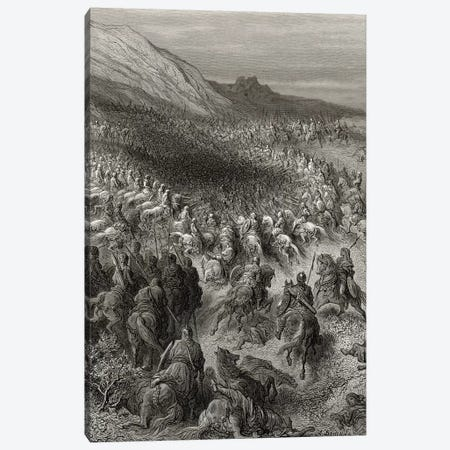 Crusaders Surrounded By Saladin's Army (Illustration From Michaud's Bibliotheque des Croisades), 1877 3-Piece Canvas #BMN6797} by Gustave Dore Canvas Artwork