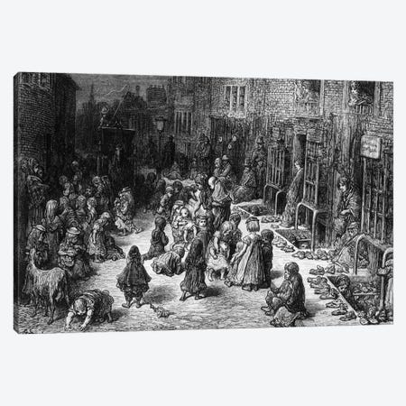 Dudley Street, Seven Dials (Illustration From Jerrold's London, A Pilgrimage) Canvas Print #BMN6799} by Gustave Dore Art Print