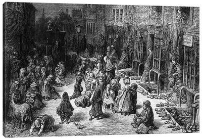 Dudley Street, Seven Dials (Illustration From Jerrold's London, A Pilgrimage) Canvas Art Print