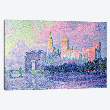 The Chateau des Papes, Avignon, 1900  Canvas Print #BMN679} by Paul Signac Canvas Art Print