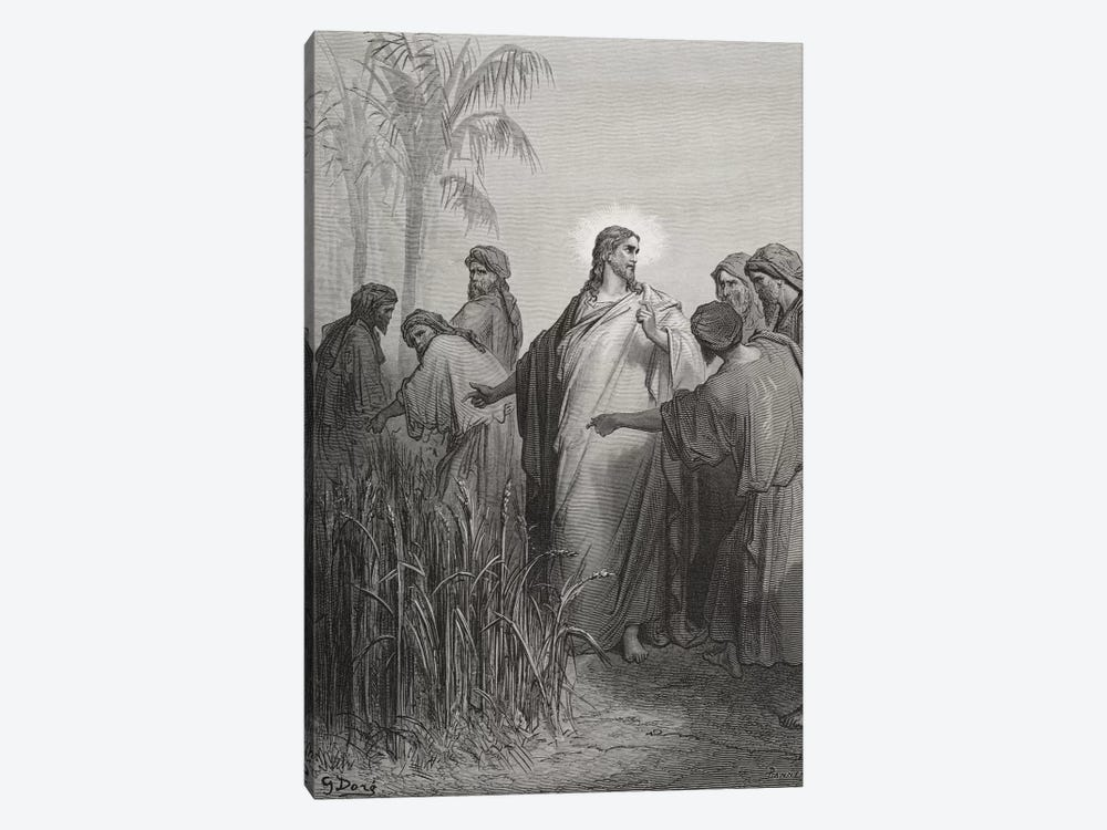 Jesus And His Disciples In The Corn Field (Illustration From Dore's The Holy Bible), 1866 by Gustave Dore 1-piece Canvas Art Print