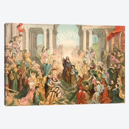 Jesus Entering Jerusalem (illustration From Farrar's The Life Of Christ) Canvas Print #BMN6802} by Gustave Dore Art Print