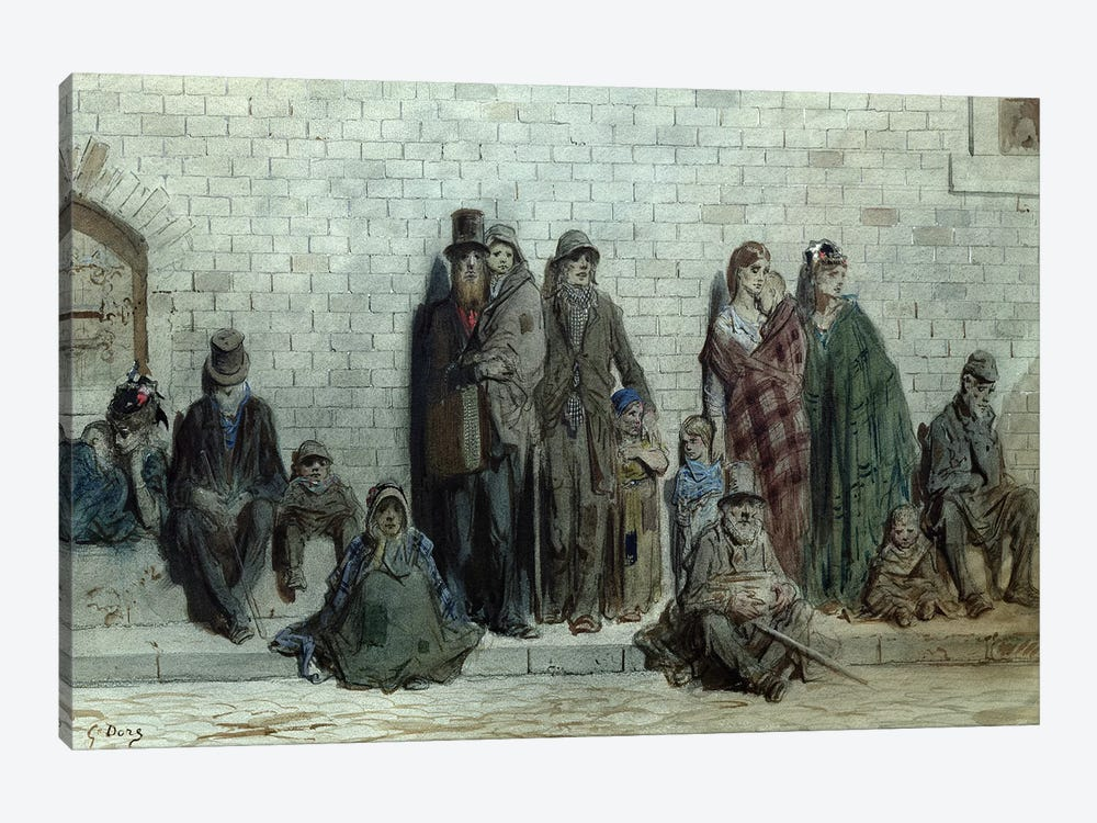 London Street Scene, c.1868-72 by Gustave Dore 1-piece Art Print