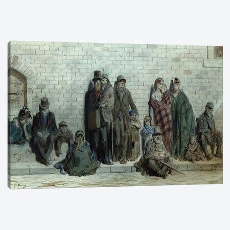 London Street Scene, c.1868-72 Canvas Print #BMN6805} by Gustave Dore Canvas Artwork