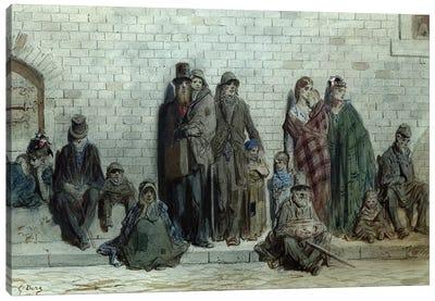 London Street Scene, c.1868-72 Canvas Art Print