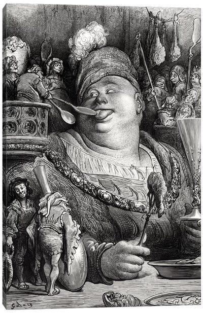 Pantagruel's Meal (Illustration From Rabelais' Pantagruel) Canvas Art Print