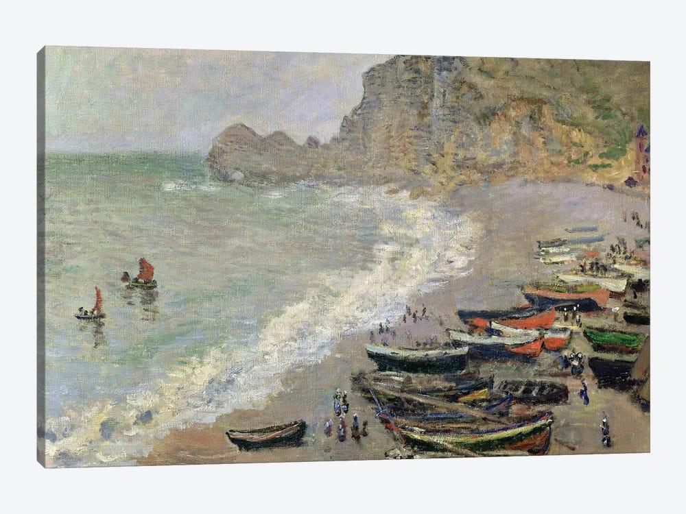 Etretat, beach and the Porte d'Amont, 1883  by Claude Monet 1-piece Art Print