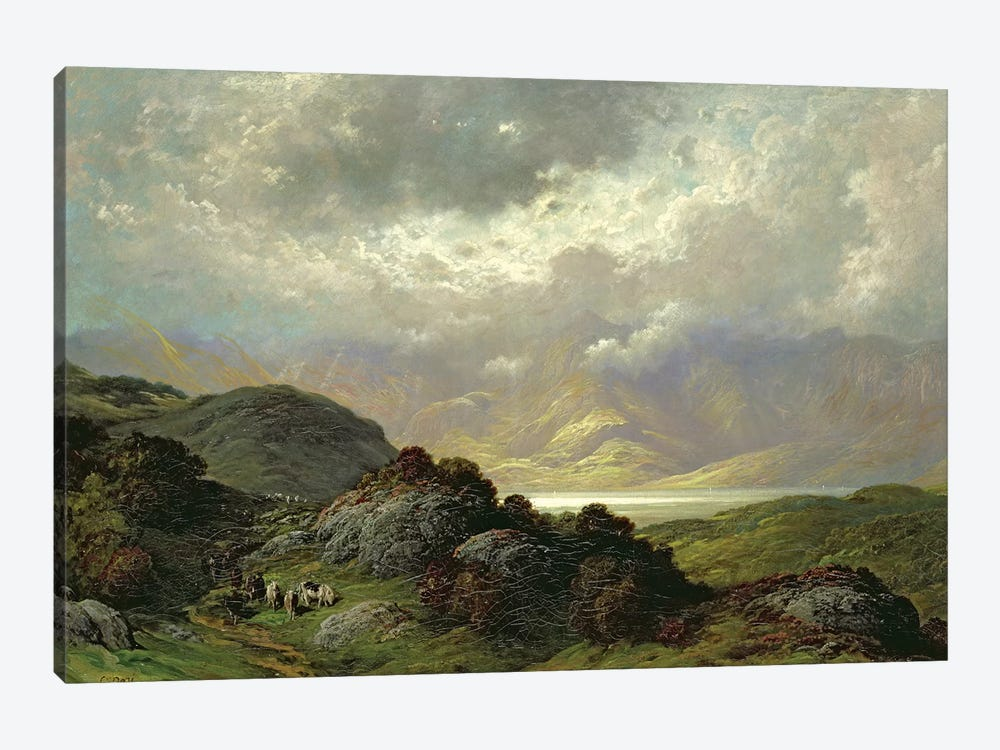 Scottish Landscape by Gustave Dore 1-piece Canvas Art Print