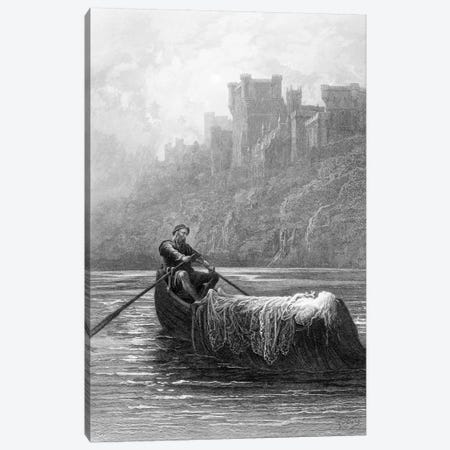 The Body Of Elaine On Its Way To King Arthur's Palace (Illustration From Tennyson's Idylls Of The King) Canvas Print #BMN6815} by Gustave Dore Canvas Print