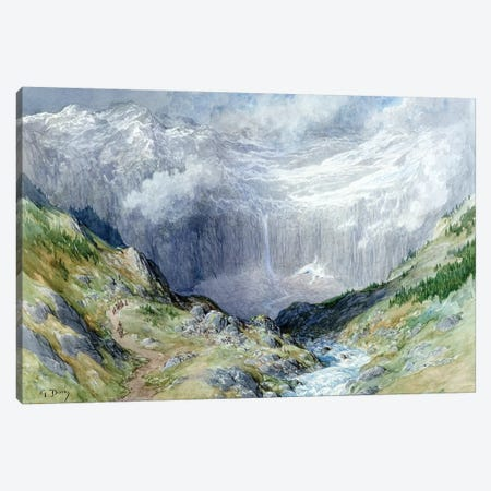 The Cirque At Gavarnie, 1882 Canvas Print #BMN6817} by Gustave Dore Art Print