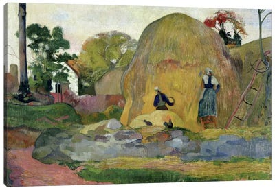 Yellow Haystacks, or Golden Harvest, 1889  Canvas Print #BMN681