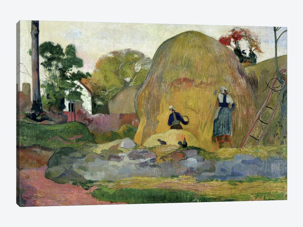 Yellow Haystacks, or Golden Harvest, 1889  by Paul Gauguin 1-piece Canvas Wall Art
