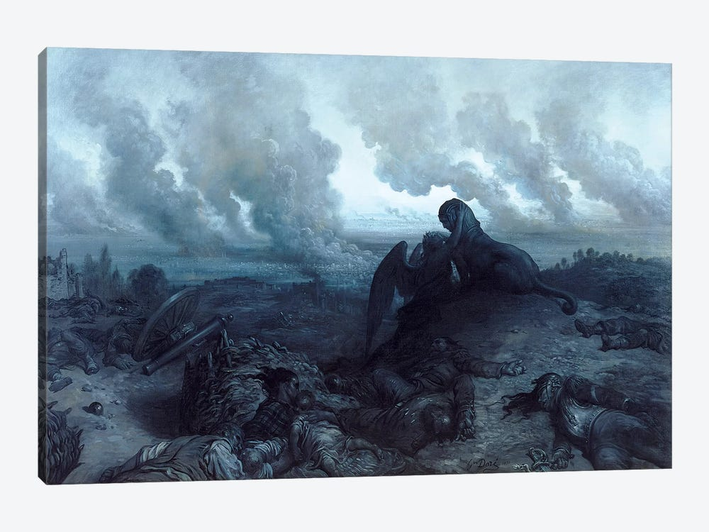 The Enigma, 1871 by Gustave Dore 1-piece Canvas Wall Art