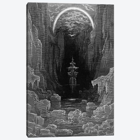 The Ice Was Here, The Ice Was There, The Ice Was All Around (Illustration From Coleridge's The Rime Of The Ancient Mariner) Canvas Print #BMN6823} by Gustave Dore Canvas Print