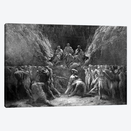 The Last Judgement (The Three Judges Of Hell: Minos, Hades And Rhadamanthus) Canvas Print #BMN6824} by Gustave Doré Canvas Art