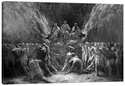 The Last Judgement (The Three Judges Of Hell: Minos, Hades And Rhadamanthus) Canvas Art Print
