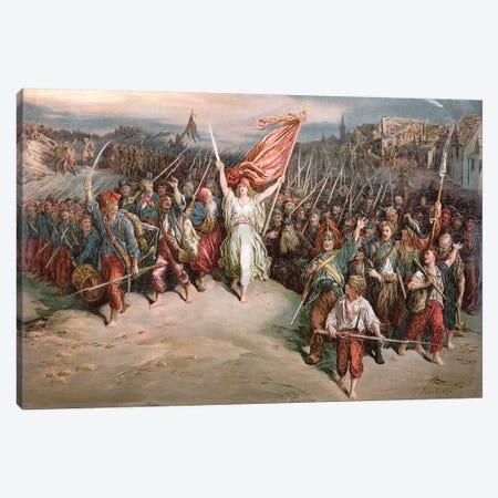 The Marseillaise, 1870 3-Piece Canvas #BMN6825} by Gustave Dore Canvas Artwork