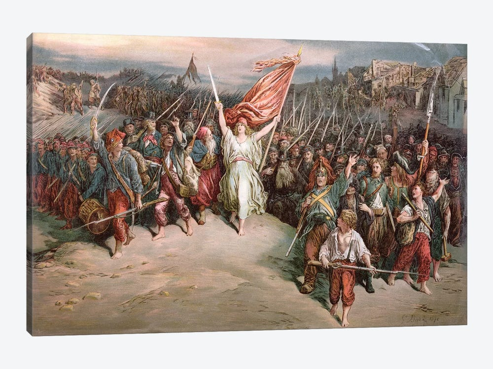 The Marseillaise, 1870 by Gustave Dore 1-piece Canvas Art Print