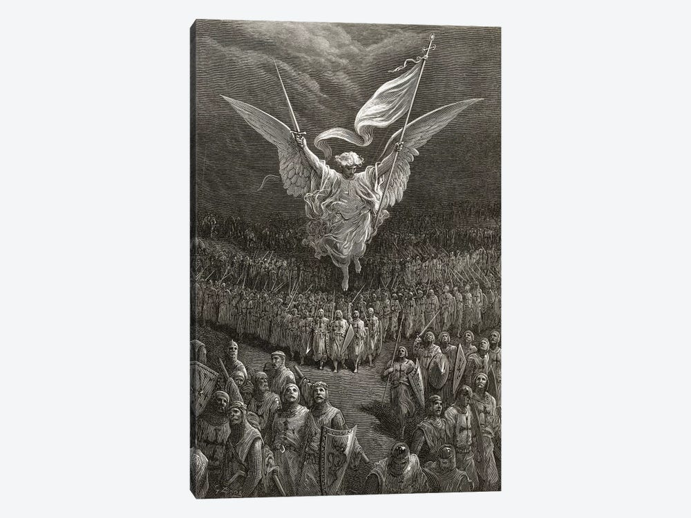 The Road To Jerusalem (Illustration From Michaud's Bibliotheque des Croisades), 1877 by Gustave Dore 1-piece Canvas Artwork