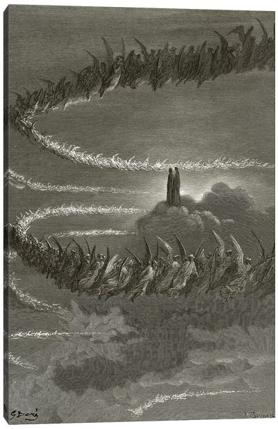 The Spirits In Jupiter (Illustration From Dante's Divine Comedy: Paradiso) Canvas Art Print