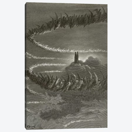 The Spirits In Jupiter (Illustration From Dante's Divine Comedy: Paradiso) Canvas Print #BMN6827} by Gustave Dore Canvas Art