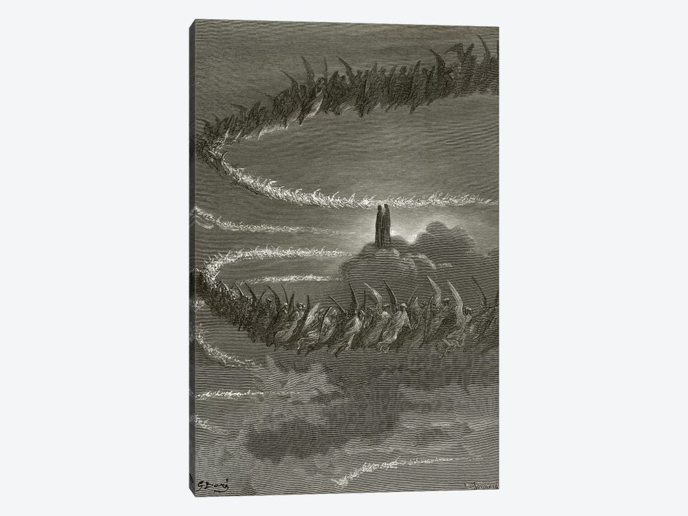 The Spirits In Jupiter (Illustration From Dante's Divine Comedy: Paradiso) by Gustave Dore 1-piece Art Print
