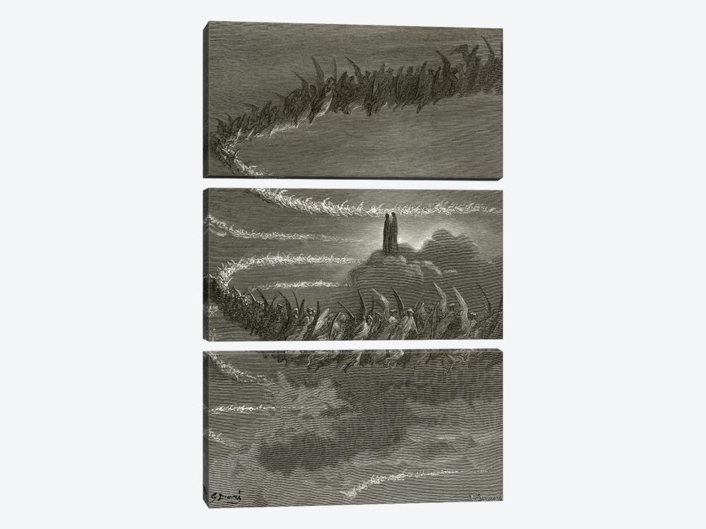 The Spirits In Jupiter (Illustration From Dante's Divine Comedy: Paradiso) by Gustave Dore 3-piece Art Print