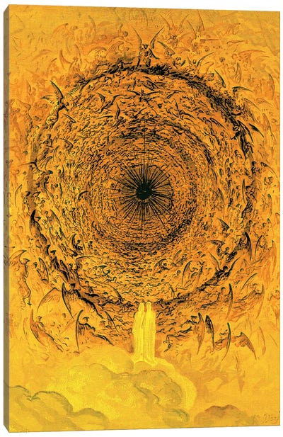 The Vision Of The Empyrean (Illustration From Dante's Divine Comedy: Paradiso) Canvas Art Print