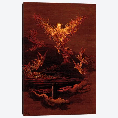 The Vision Of The Sixth Heaven (Illustration From Dante's Divine Comedy: Paradiso) Canvas Print #BMN6830} by Gustave Dore Canvas Artwork