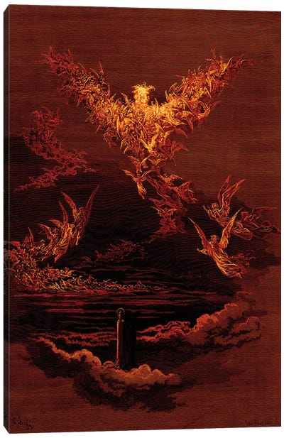 The Vision Of The Sixth Heaven (Illustration From Dante's Divine Comedy: Paradiso) Canvas Art Print