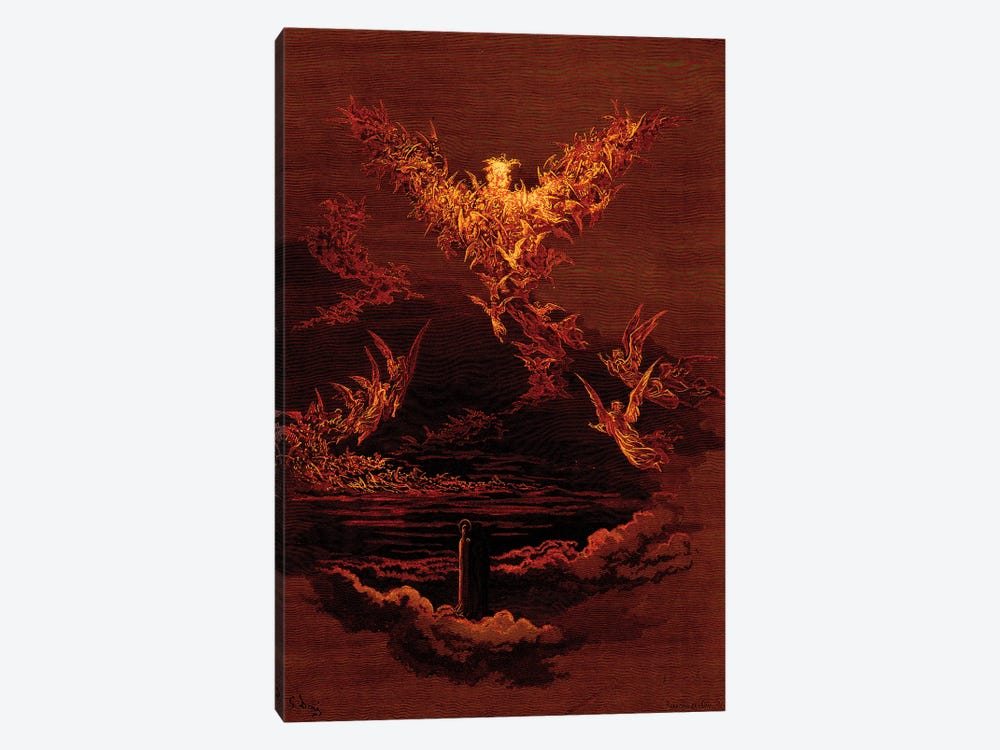 The Vision Of The Sixth Heaven (Illustration From Dante's Divine Comedy: Paradiso) by Gustave Dore 1-piece Art Print