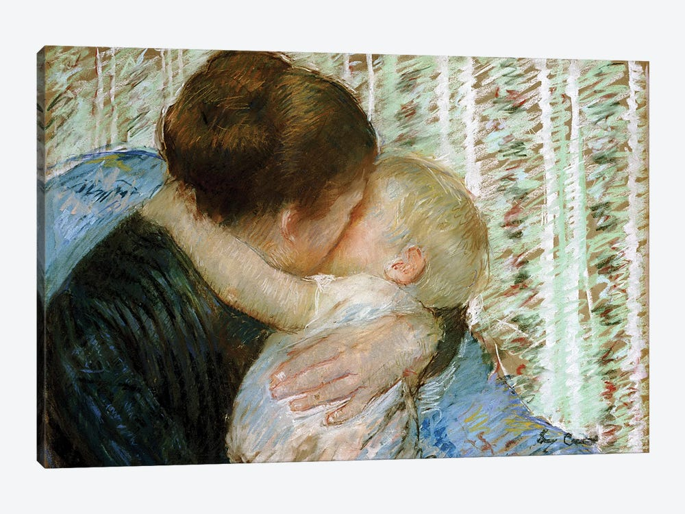 A Goodnight Hug by Mary Stevenson Cassatt 1-piece Canvas Print