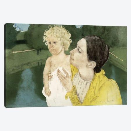 By The Pond, c.1898 Canvas Print #BMN6833} by Mary Stevenson Cassatt Canvas Wall Art