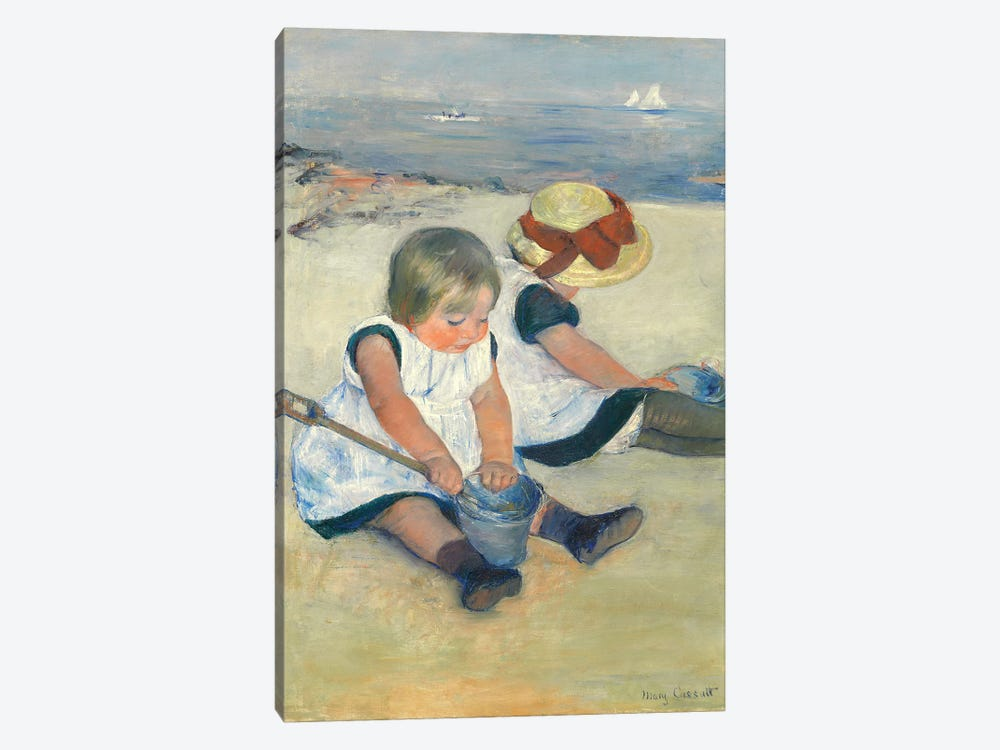Children Playing On The Beach, 1884 by Mary Stevenson Cassatt 1-piece Canvas Art Print