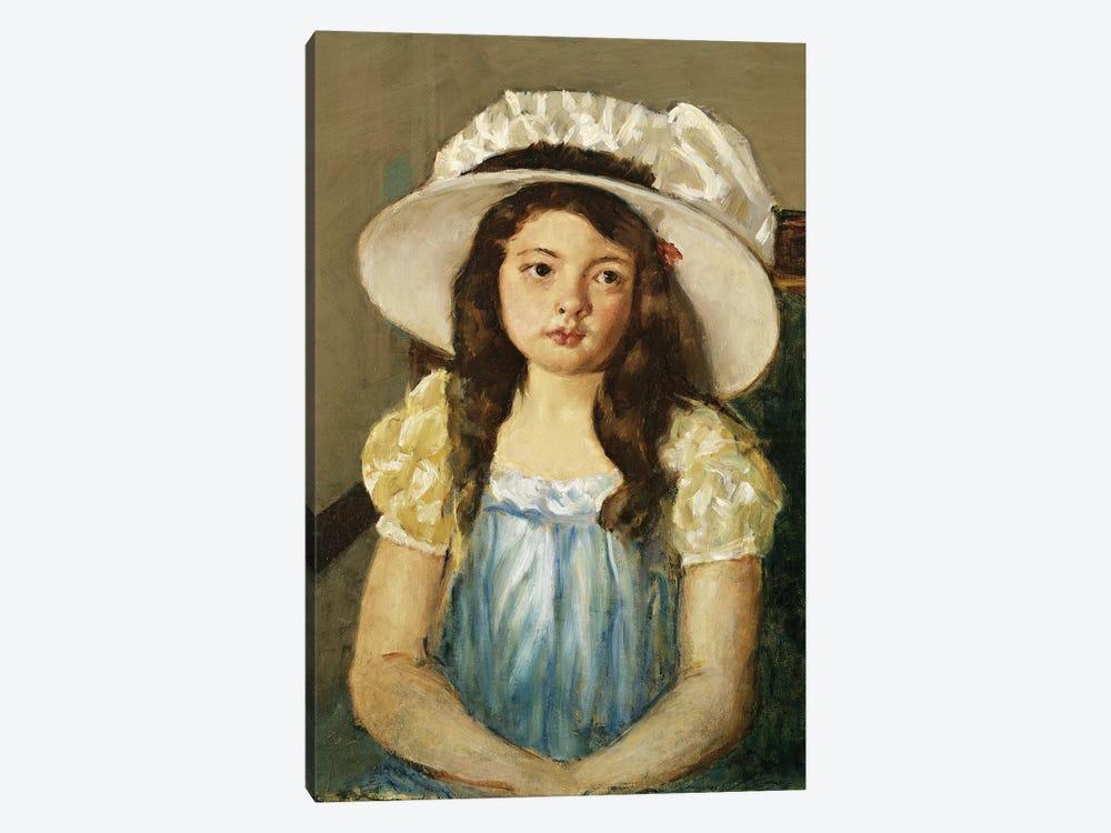 Francoise Wearing A Big White Hat by Mary Stevenson Cassatt 1-piece Canvas Art