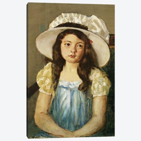 Francoise Wearing A Big White Hat Canvas Print #BMN6835} by Mary Stevenson Cassatt Canvas Print