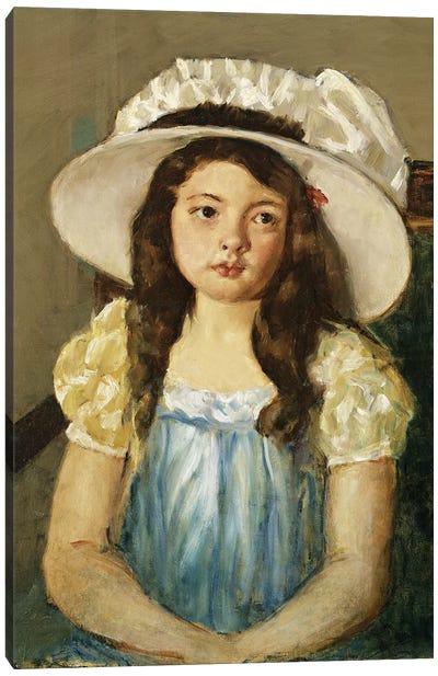 Francoise Wearing A Big White Hat Canvas Art Print