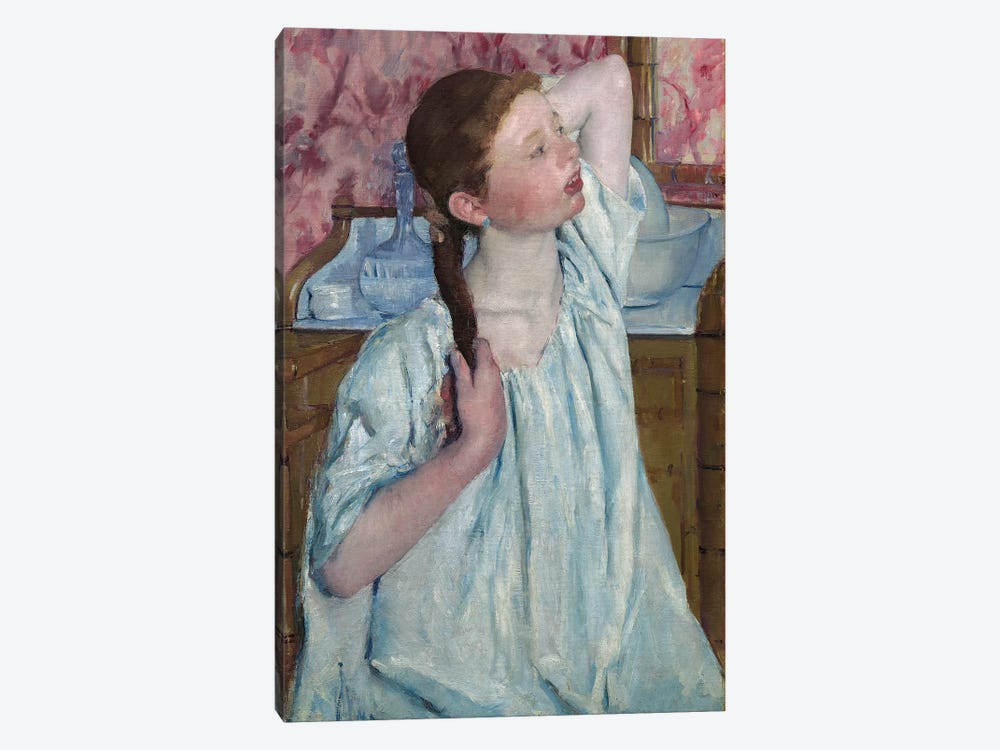 Girl Arranging Her Hair, 1886 by Mary Stevenson Cassatt 1-piece Art Print