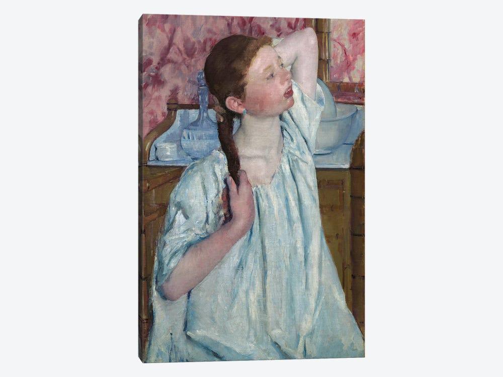 Girl Arranging Her Hair, 1886 by Mary Stevenson Cassatt 1-piece Art Print