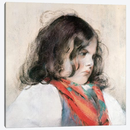 Head Of A Child Canvas Print #BMN6837} by Mary Stevenson Cassatt Canvas Print