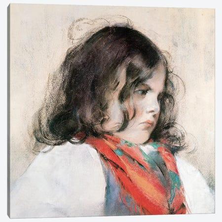 Head Of A Child Canvas Print #BMN6837} by Mary Stevenson Cassatt Canvas Print