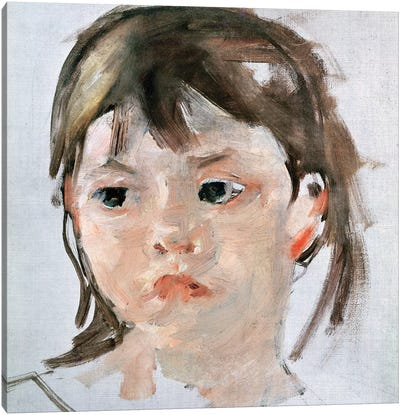 Head Of A Young Girl Canvas Art Print